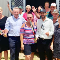 Ulmarra tennis court gets a resurface